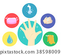 Hand Washing Steps Illustration 38598009