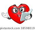 mascot, heart, story 38598019