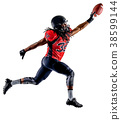 american football player man isolated 38599144