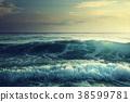 Sunset on Seychelles beach 38599781
