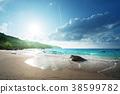 Anse Lazio beach at Praslin island, Seychelles 38599782
