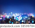 blurred lighhts from peak Victoria, Hong Kong 38599784