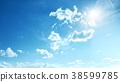 Perfect blue, sunny sky 38599785