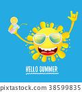 funky, logo, summer 38599835