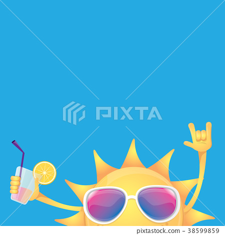 hello summer rock n roll vector label or logo 38599859