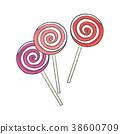 lollipop, vector, colorful 38600709