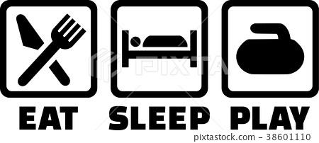 Curling Eat Sleep Play 38601110