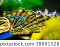 Color hand fan isolated close up 38601328