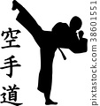 karate fighter silhouette 38601551