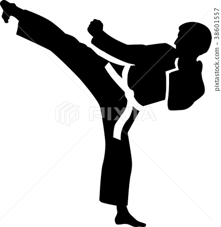 Karate kick 38601557