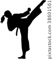 karate woman kick 38601561