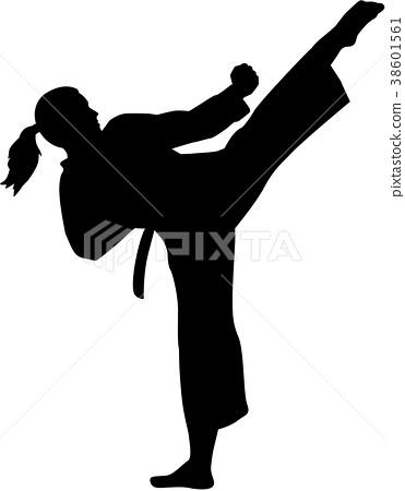 Karate fighter woman 38601561