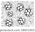 Hand Drawing Background of Fresh Pione Grapes 38601663
