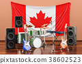 Music, rock bands from Canada concept 38602523