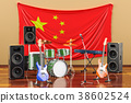 Music, rock bands from China concept 38602524