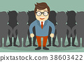 Find the right person for the job concept 38603422