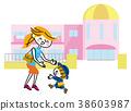父母和小孩 親子 幼兒園 38603987