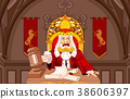 King of Hearts Judge with gavel 38606397