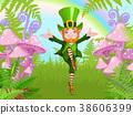 Leprechaun, mushroom, dancing 38606399
