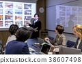 사무실 이미지 이그제큐티브 크리에이티브 회의 프로젝터 38607498