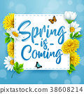 Spring is coming. Spring background with beautiful 38608214