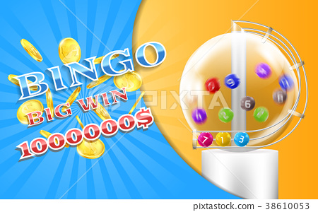 Vector lottery banner, bingo game background 38610053
