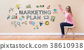 marketing, plan, woman 38610938