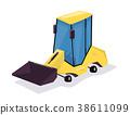 loader, wheel, vector 38611099