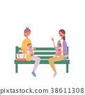 育兒 媽媽 長凳 38611308