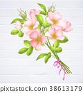 floral, flower, vector 38613179