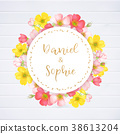 invitation, wedding, flower 38613204