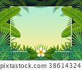 Summer background banner. Vector illustration 38614324