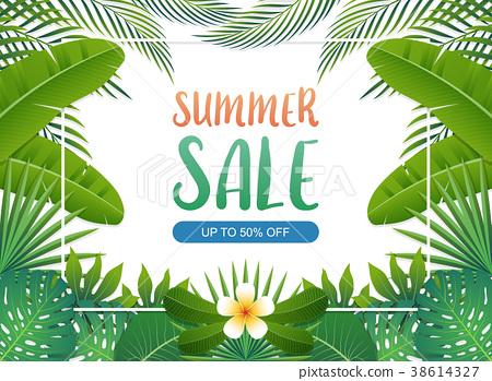 Summer sale background banner. Vector illustration 38614327