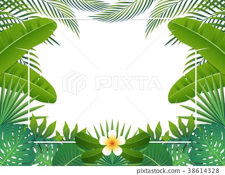 Summer background banner. Vector illustration 38614328