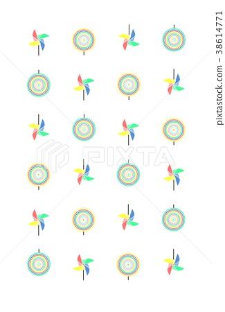 Pinwheel pattern-4 colors 38614771