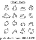 Abstract Cloud , Chinese Cloud ,cloud icon set 38614891