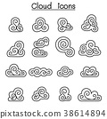Decoration cloud, abstract cloud icon set 38614894