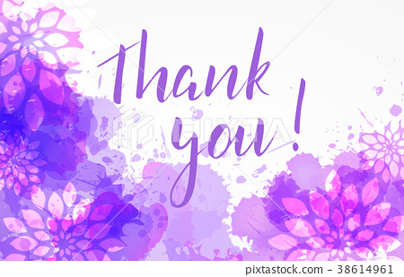 Thank you floral background 38614961