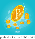 bitcoin cryptocurrency isometric 38615743