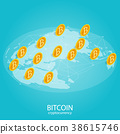 isometric golden coin,bitcoin cryptocurrency  38615746