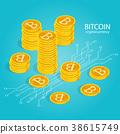 cryptocurrency bitcoin isometric 38615749