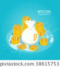 bitcoin cryptocurrency isometric 38615753