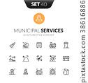 black, icon, line 38616886