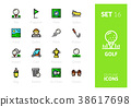 Outline color icons set 38617698