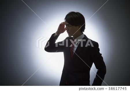 Business silhouette male businessman 38617745