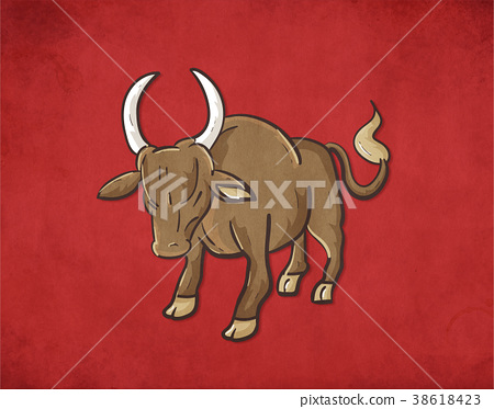 Vector graphics of a big bull. Large domesticated  38618423
