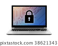 Computer security system on laptop  38621343