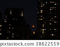 Red moon in NYC 38622559