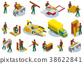 Furniture Makers Isometric Icons 38622841
