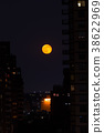 Red moon in NYC 38622969